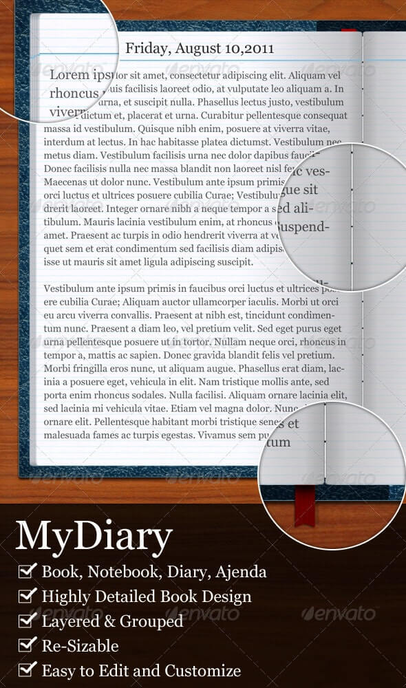 MyDiary-Open Book and Diary Mockup