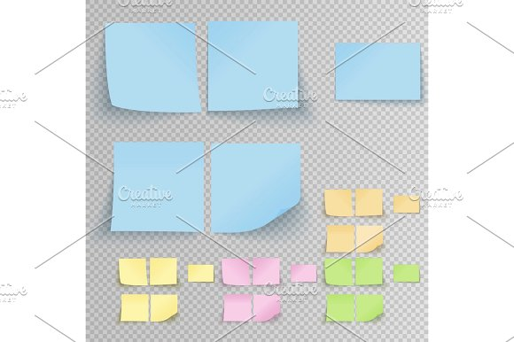 Office multicolored Sticky Notes Template