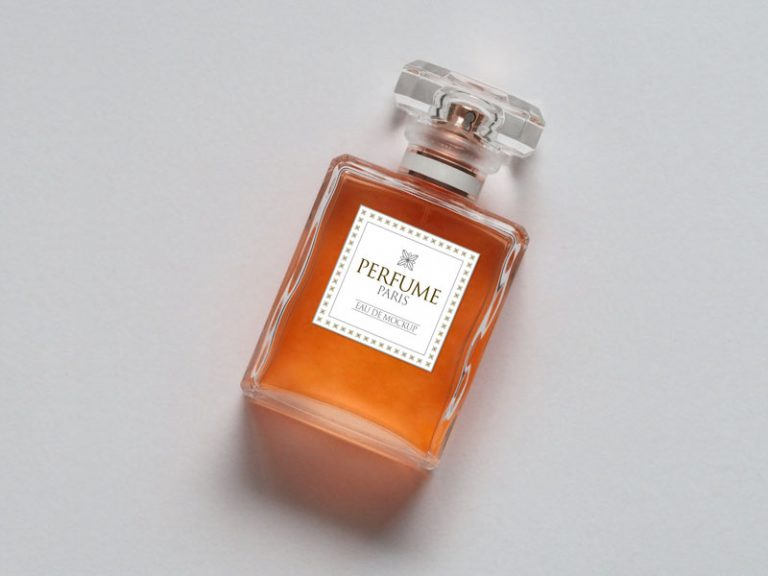 Orange Perfume Bottle Design template: