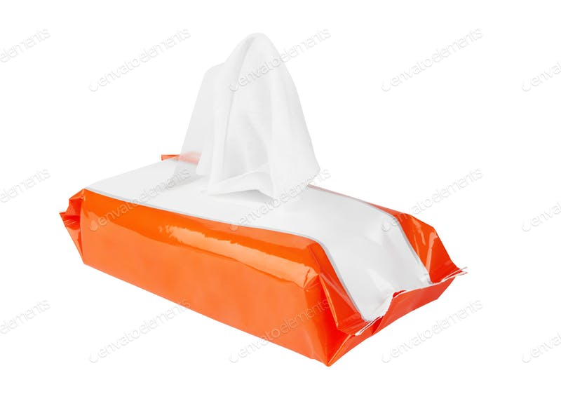 Orange Tissue Package Mockup