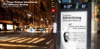 Free Outdoor Advertising Billboard Mockup PSD Template