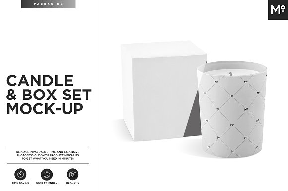 Pack of 2 Candle PSD Design