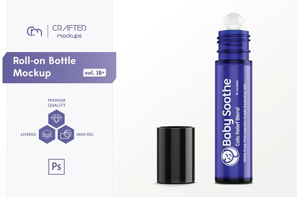Perfume Bottle PSD - Roll-on Design: