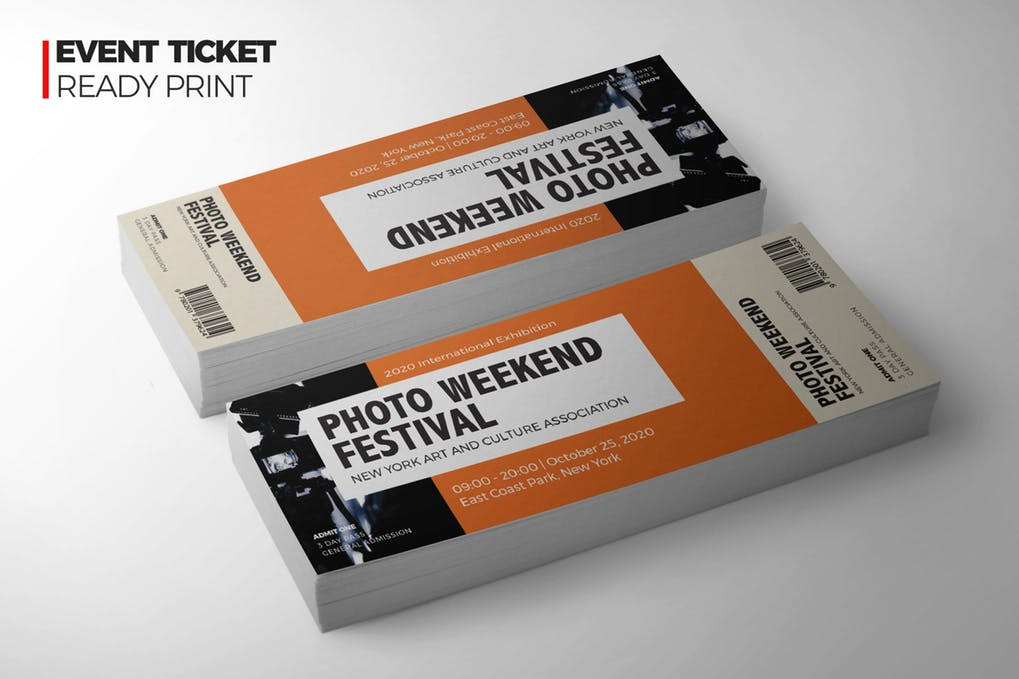 Photo Festival Ticket Design