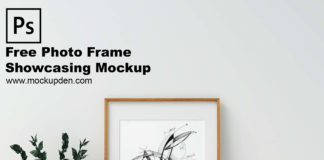 Free Photo Frame Showcasing Mockup PSD Template