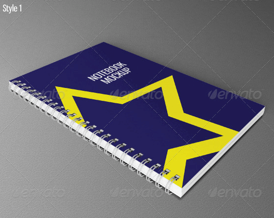 Photo Realistic Notebook Template