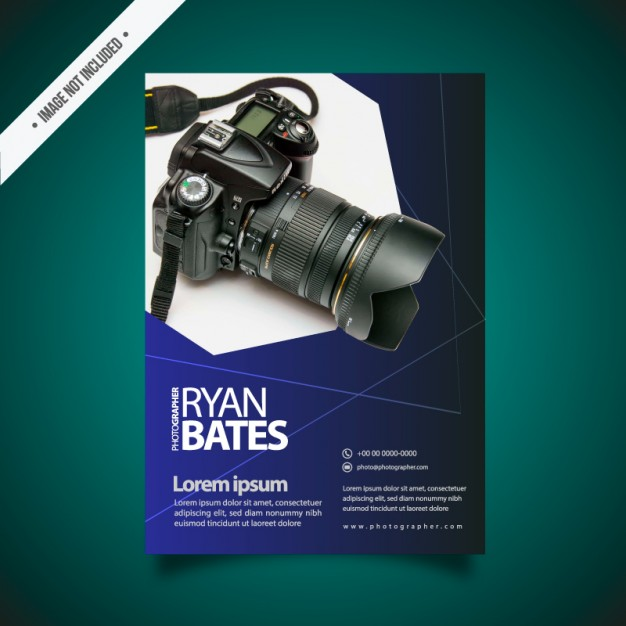 Photography Brochure Vector File Illustration Mockup