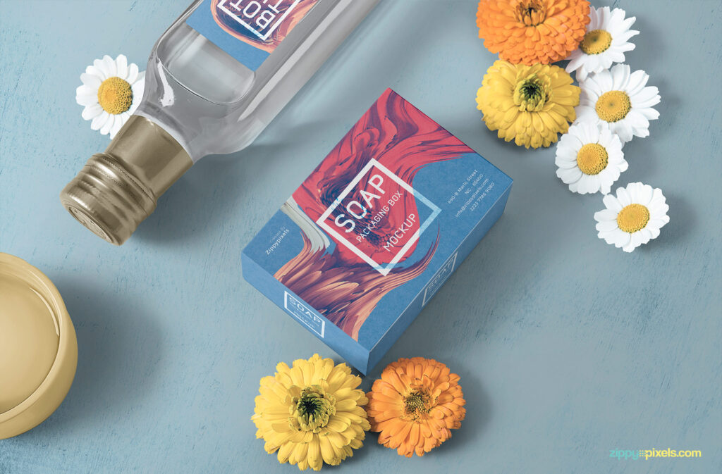 Photorealistic Soap Packaging Box