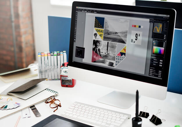 Photoshop Open On Computer Screen Mockup