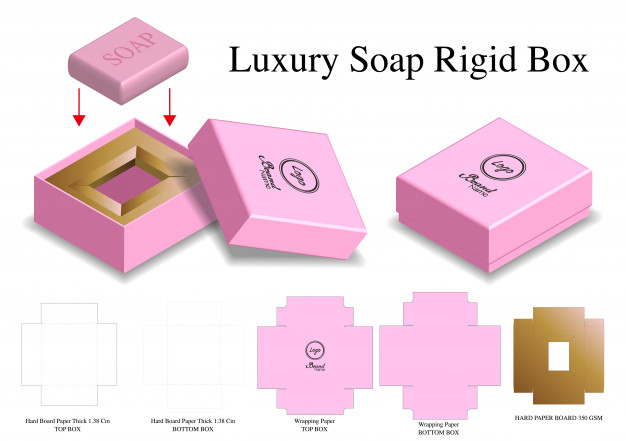 Pink Color Luxury Soap Box