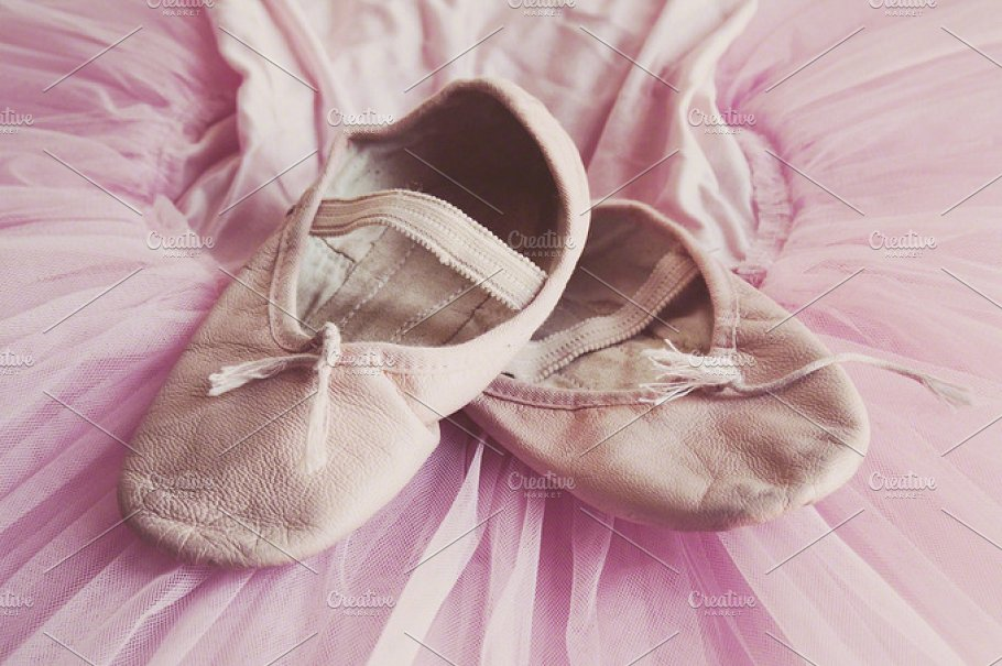 Pink Colored Ballet Shoe Mockup
