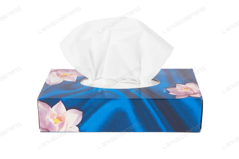 Pink Lotus Print Tissue Box PSD Design Template