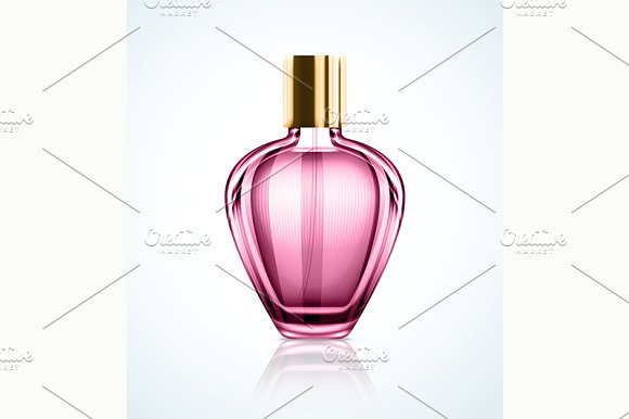 Pink Perfume Bottle Design template