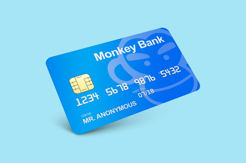 Plastic Bank Card Mockup PSD.