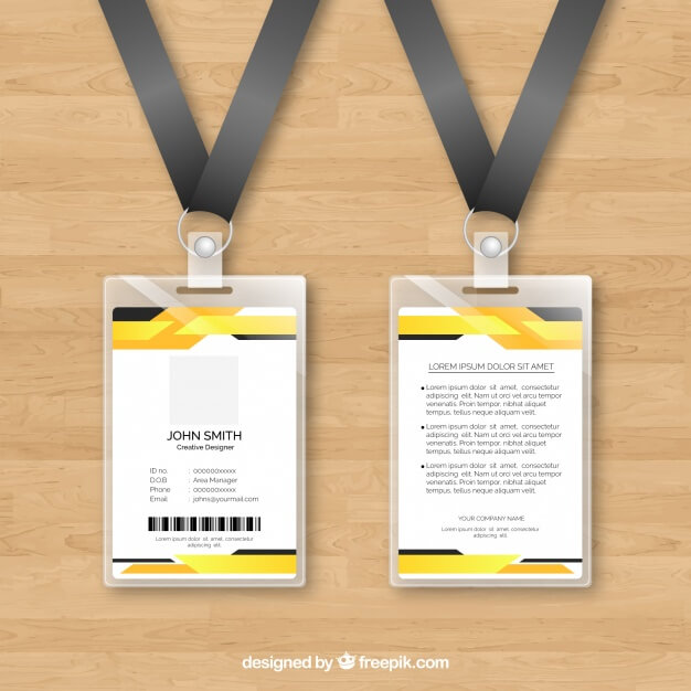 Plastic Card Placed On Wooden Background Vector.