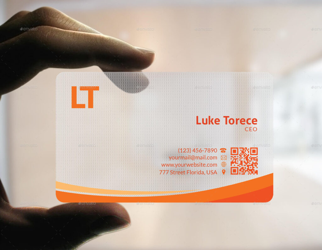 Plastic Corporate Business Card PSD Mockup Design.