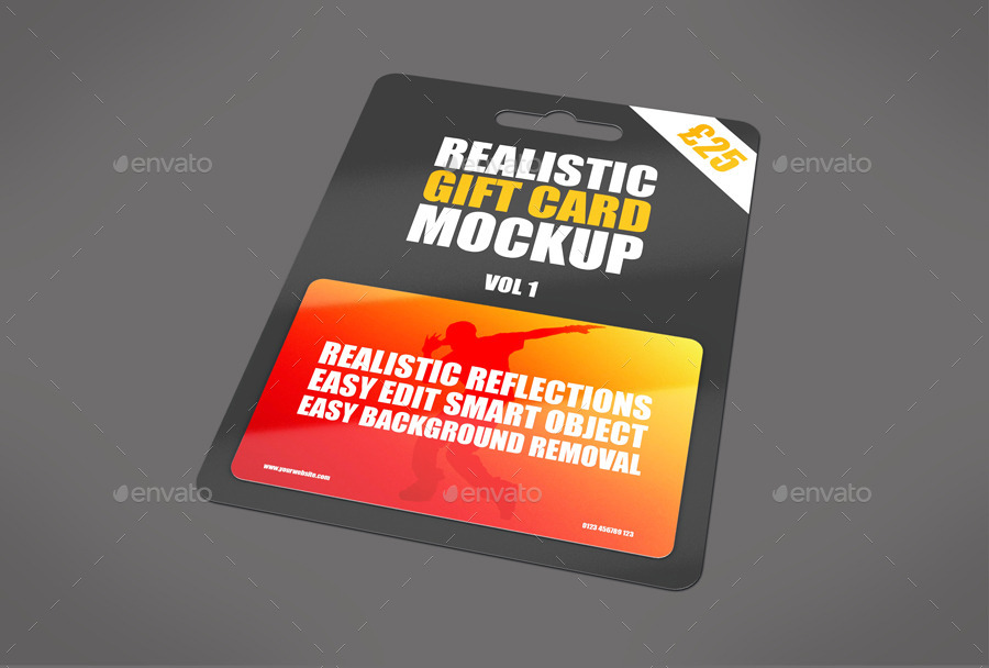 Plastic Gift Realistic Card Mockup PSD.