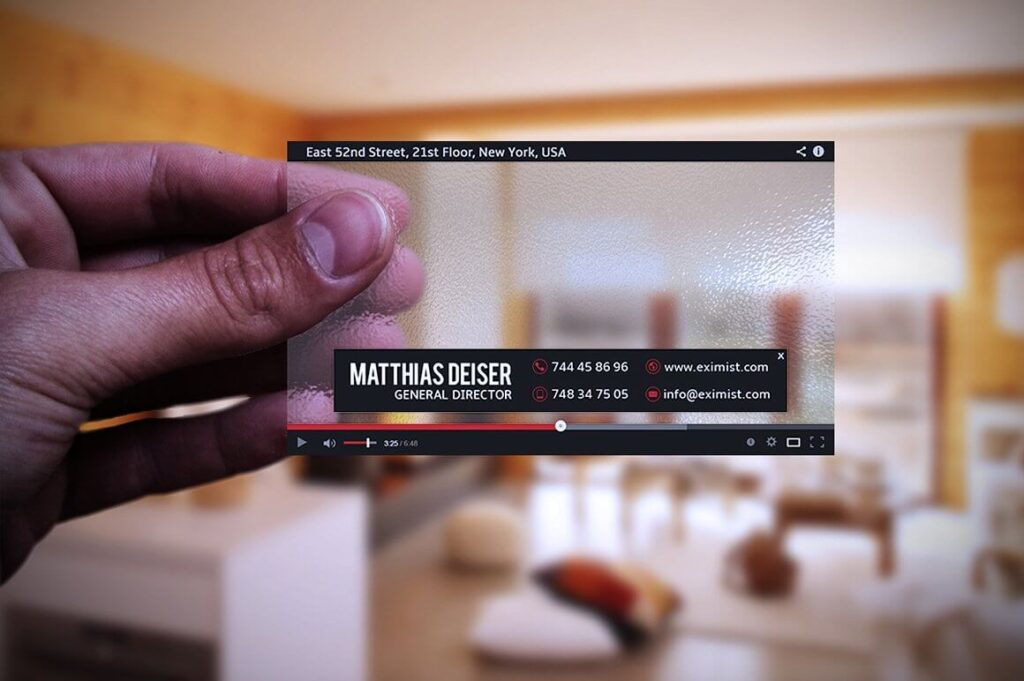 Plastic You Tube Transparent Card Mockup PSD.