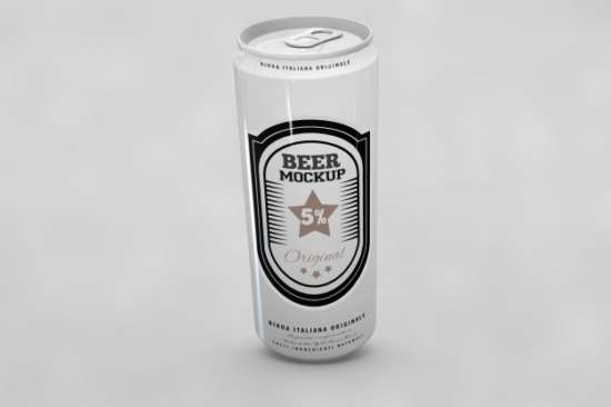 Pocket Size Beer Can Mockup:
