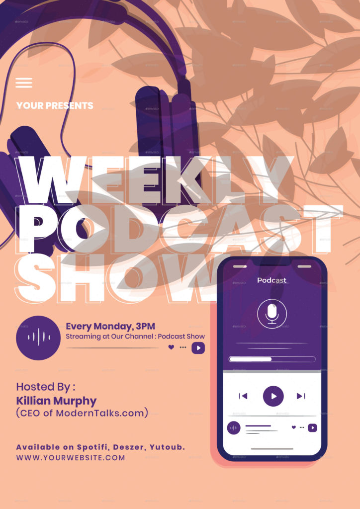 Podcast Talks Show Flyer Instagram Set