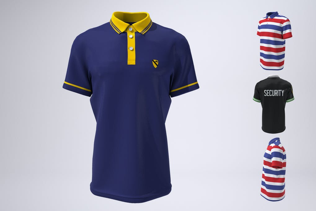 Polo Shirt, Tennis or Golf Shirt Mock-Up