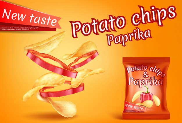 Potato Chips Packaging Bag Mockup