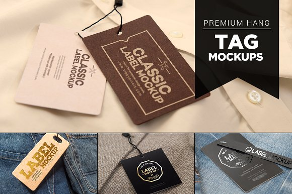 Premium And Classic Hang Tag Mockup