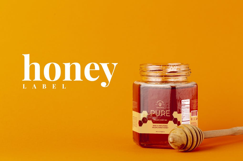 Premium Honey Jar Label Design