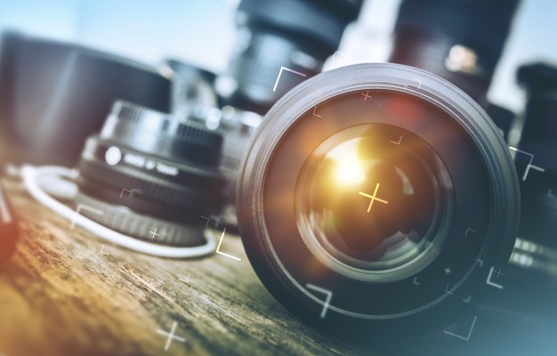 Pro Equipments For Photography PSD Template.