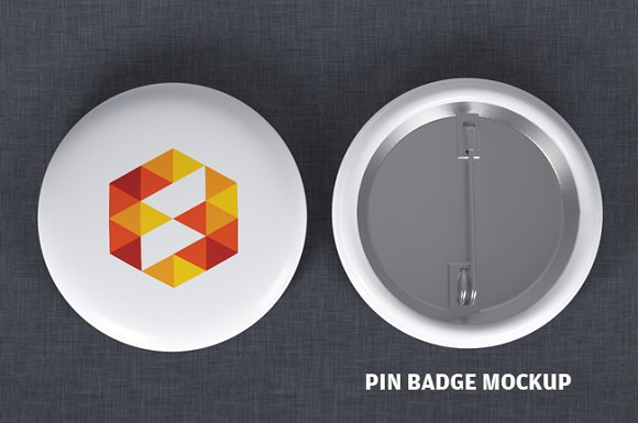 Professional Design Button Badge Mockup