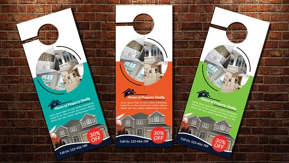 Real Estate Door Hanger PSD