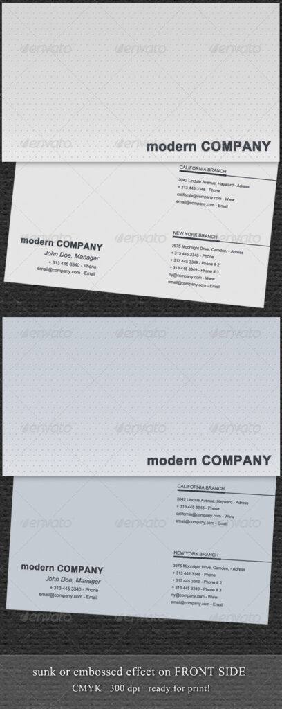 Embossed Business Card Mockup | 20+ Outstanding PSD, AI, EPS Templates 4