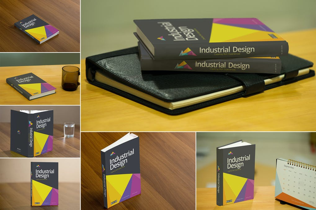 Realistic Book Cover Mockups