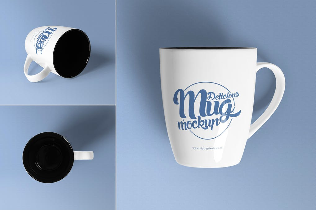 Realistic Coffee Mug Design Mockup