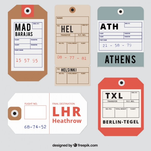 Realistic Design Luggage Tag Vector File Illustration