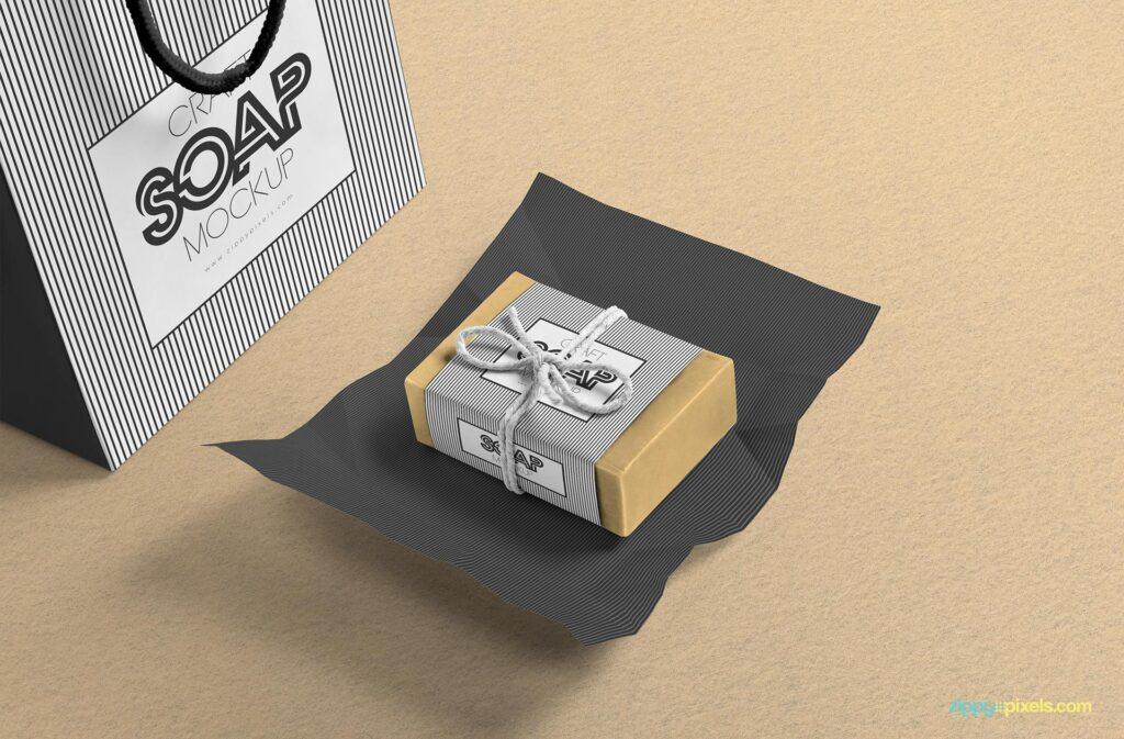 Realistic Soap Box Mockup