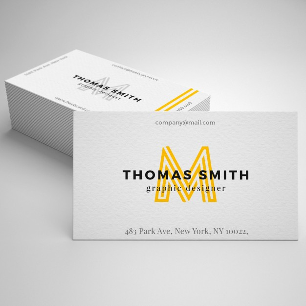 Realistic Square Business Card PSD
