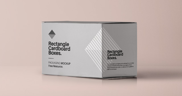 Rectangle Shape Shipping Container Mockup