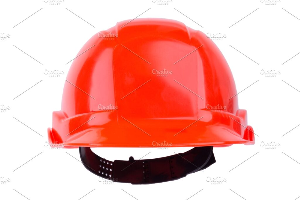 Red Shiny Helmet With Black Belt