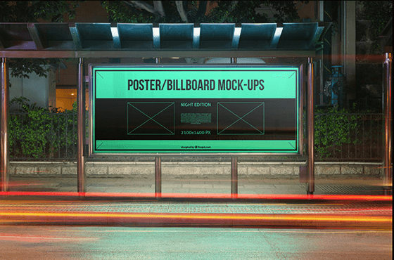 Road Side Poster Template Mockup PSD