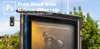 Free Roadside Outdoor Billboard Mockup PSD Template