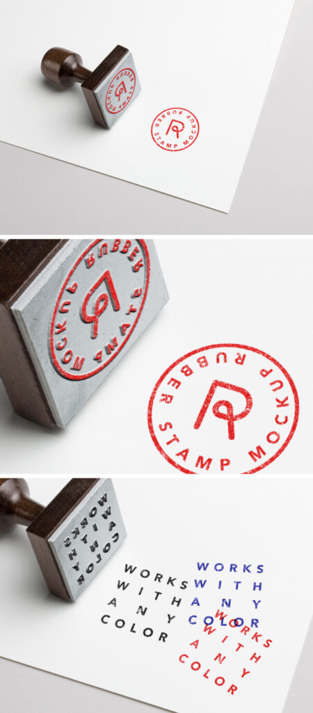 Rubber Stamp Mockup PSD Free Template