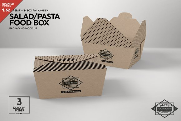 Salad Packaging Box Mockup