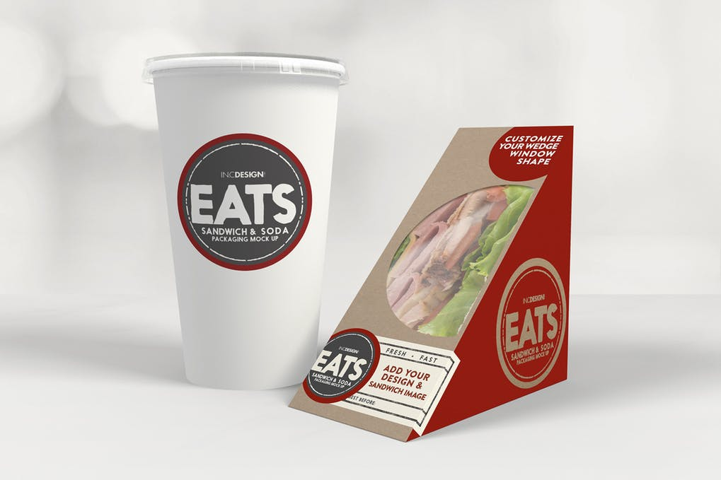 Sandwich box and Cold Drink cup PSD