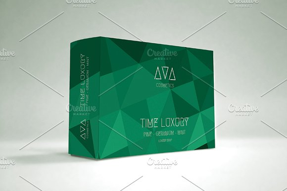 Sap Green Color Soap Box Mockup