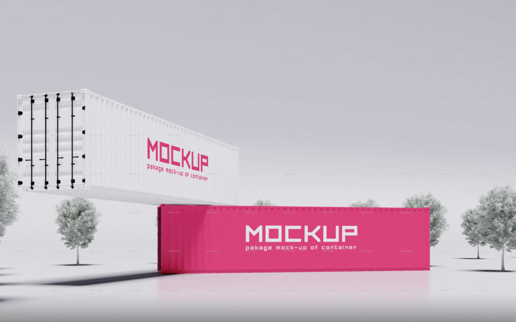 Shipping Container Mockup Vol.3_20 Feet and 40 Feet Container