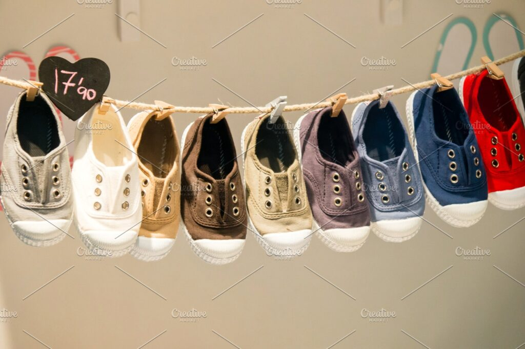 Shoes For Kids Mockup PSD