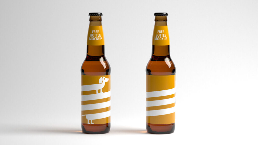 Simple Beer Bottle PSD Mockup: