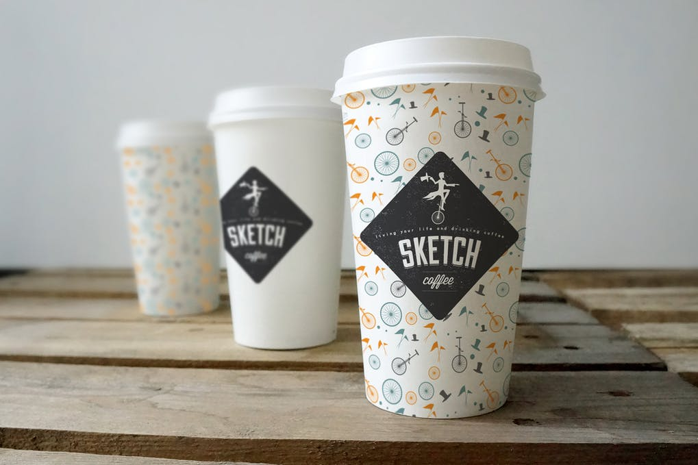Simple Coffee Cup Design Mockup