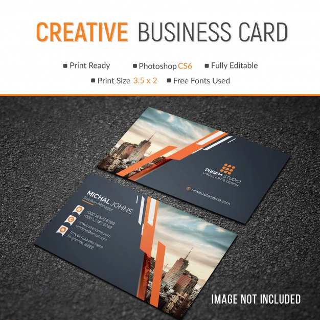 Simple and Creative Business Card Mockup Design